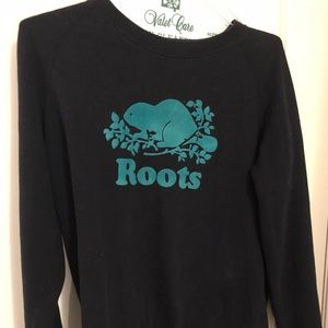 Roots logo crewneck sweater